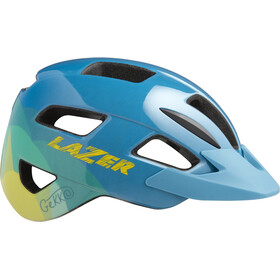 Lazer Gekko Helmet with Insect Net Kids blue yellow